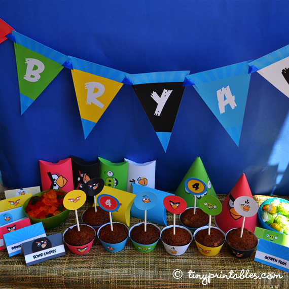Decoracao festa angry bird