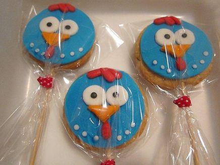 biscoitos galinha pintadinha