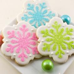 bolachas de natal flocos neve