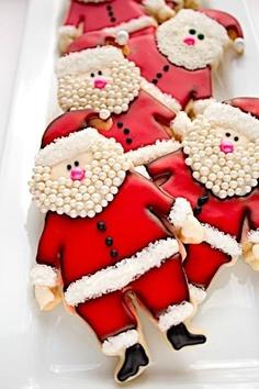 bolachas decoradas pai natal