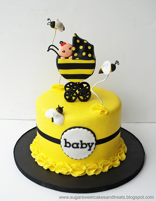 bolo abelha cha bebe