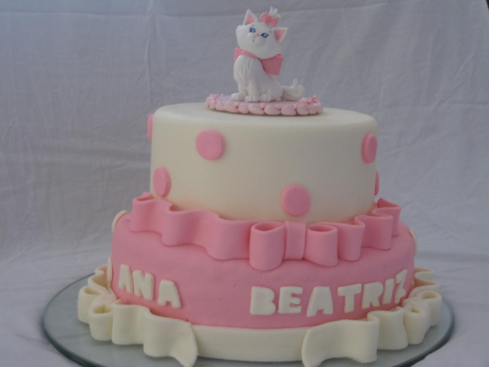 bolo aniversário gatinha marie