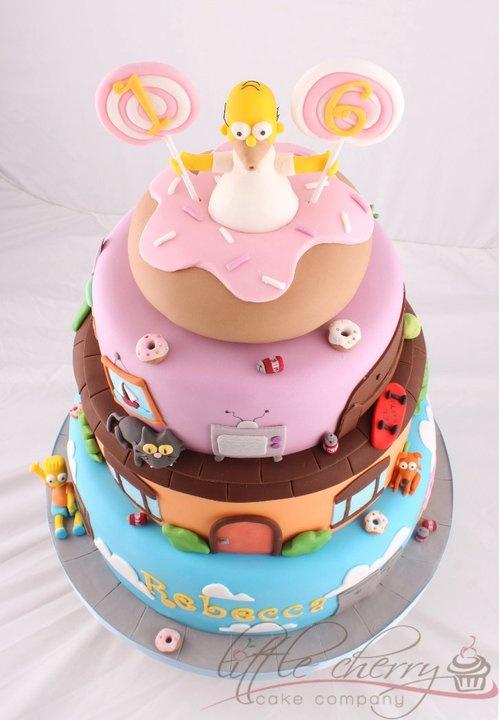 bolo aniversário simpsons