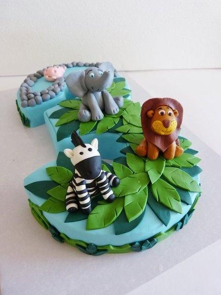 bolo aniversario selva safari