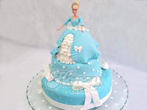 bolo barbie azul