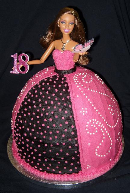 bolo barbie boneca