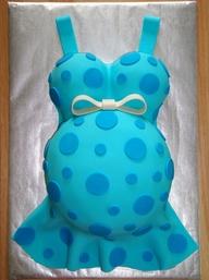 bolo barriga gravida azul
