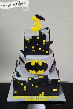 Bolos decorados do Batman