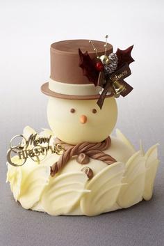 bolo boneco de neve natal