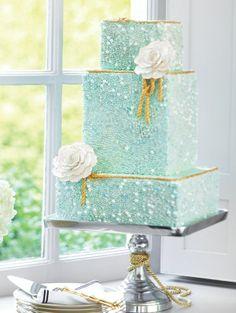 bolo casamento azul