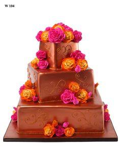 bolo casamento chocolate e flores