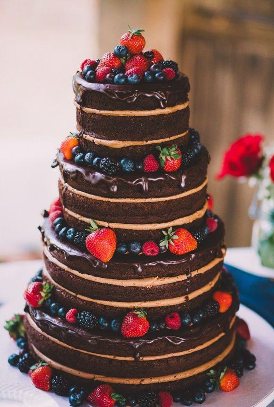bolo casamento chocolate