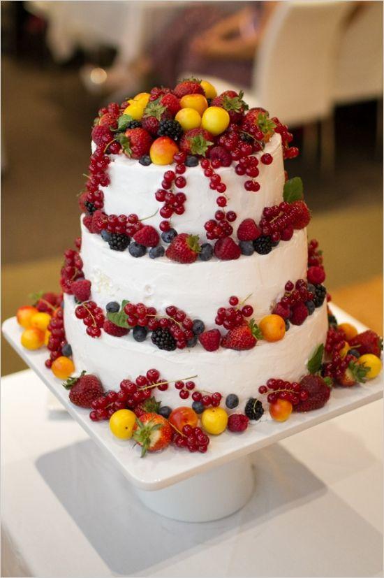 Beautiful Fruit Cake Images : Bolos Decorados com Frutas