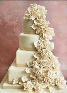 bolo casamento flores