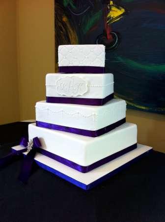 bolo casamento lilas
