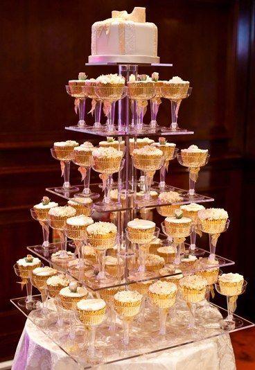 bolo casamento noiva cupcakes