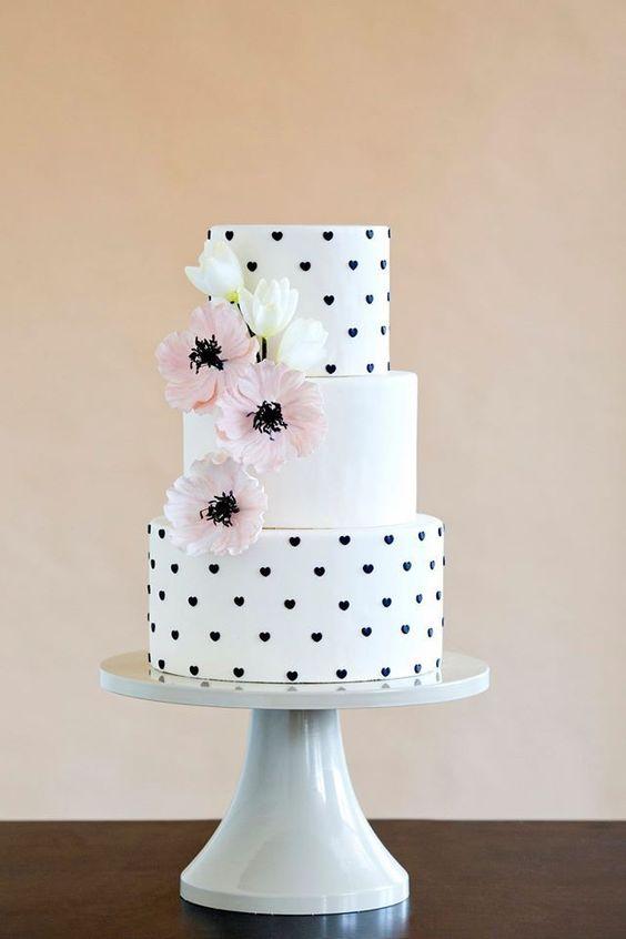 bolo casamento noiva preto branco 1