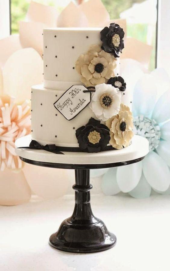 bolo casamento noiva preto branco 13