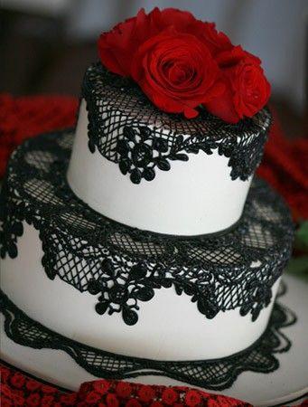 bolo casamento noiva preto branco 2