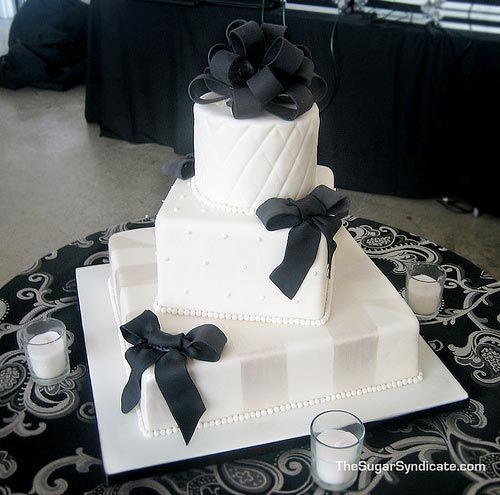 bolo casamento noiva preto branco 5