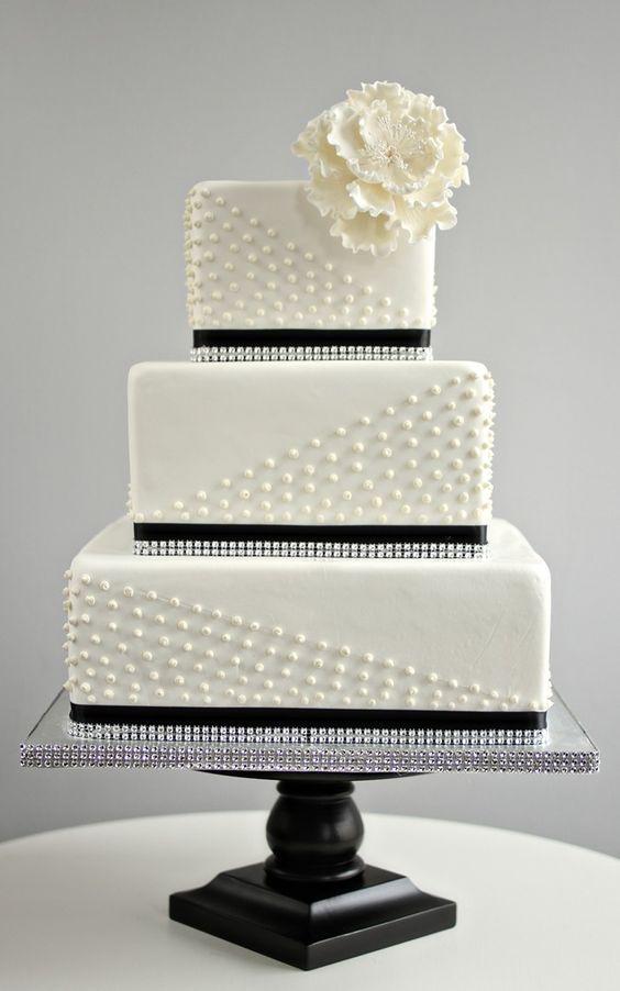 bolo casamento noiva preto branco 6