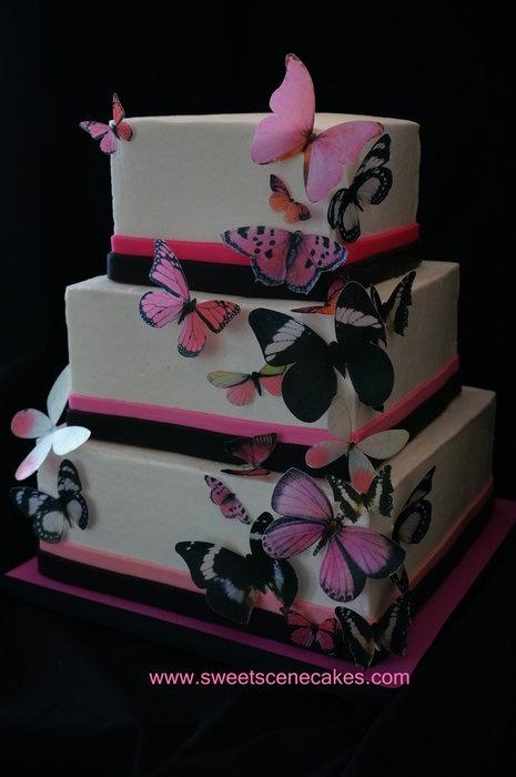 bolo casamento quadrado