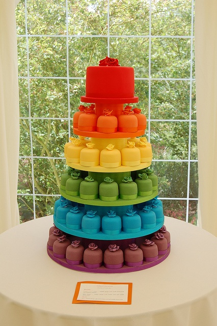 bolo colorido arco iris