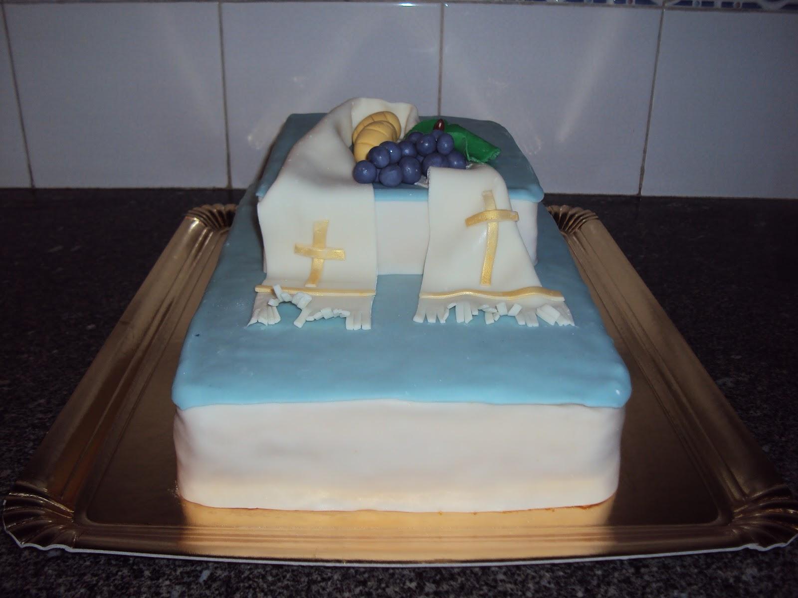 bolo comunhao azul