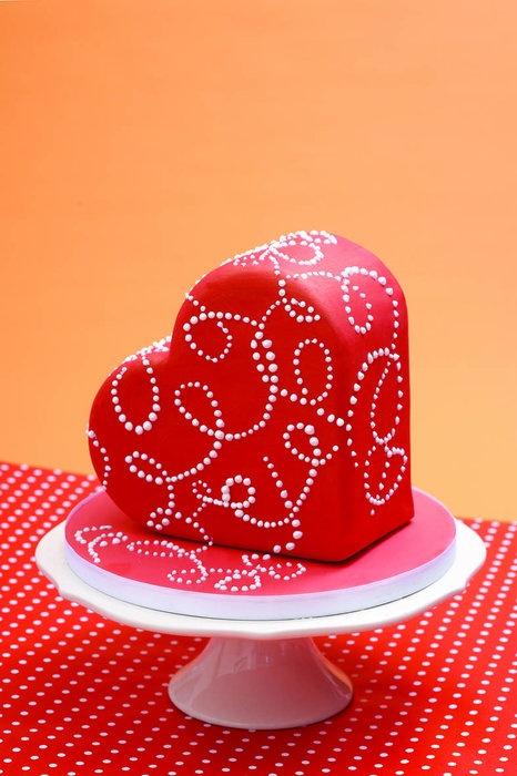 bolo coracao amor