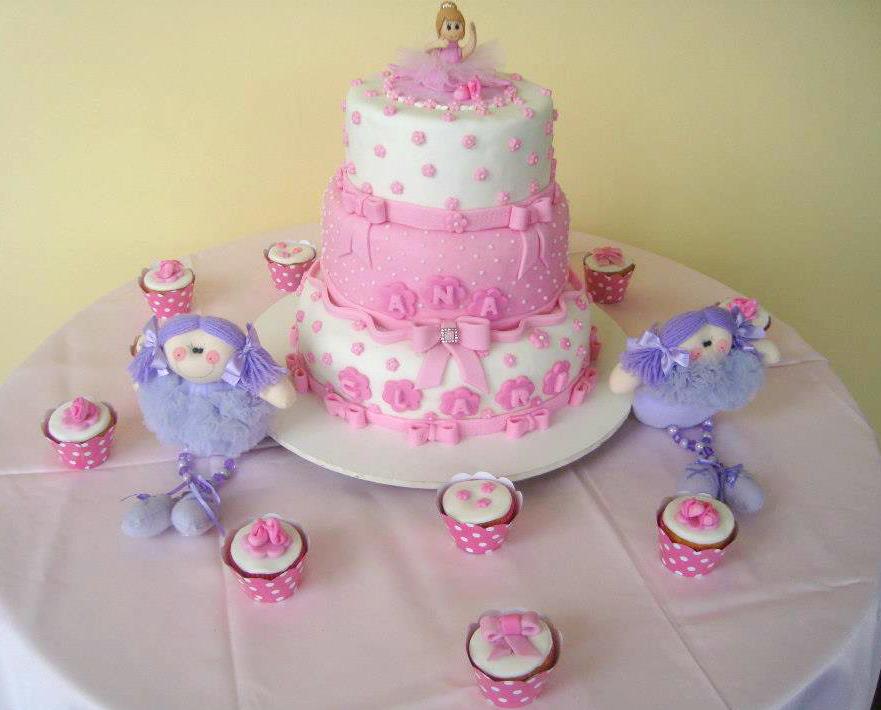 bolo cupcakes bailarina