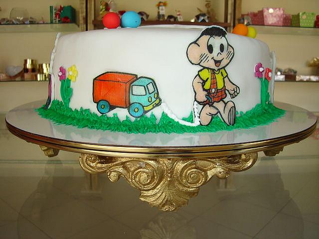 bolo da turma da monica decorado
