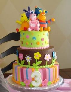bolo de aniversario backyardigans