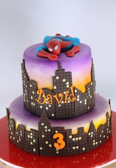 bolo de aniversario homem aranha