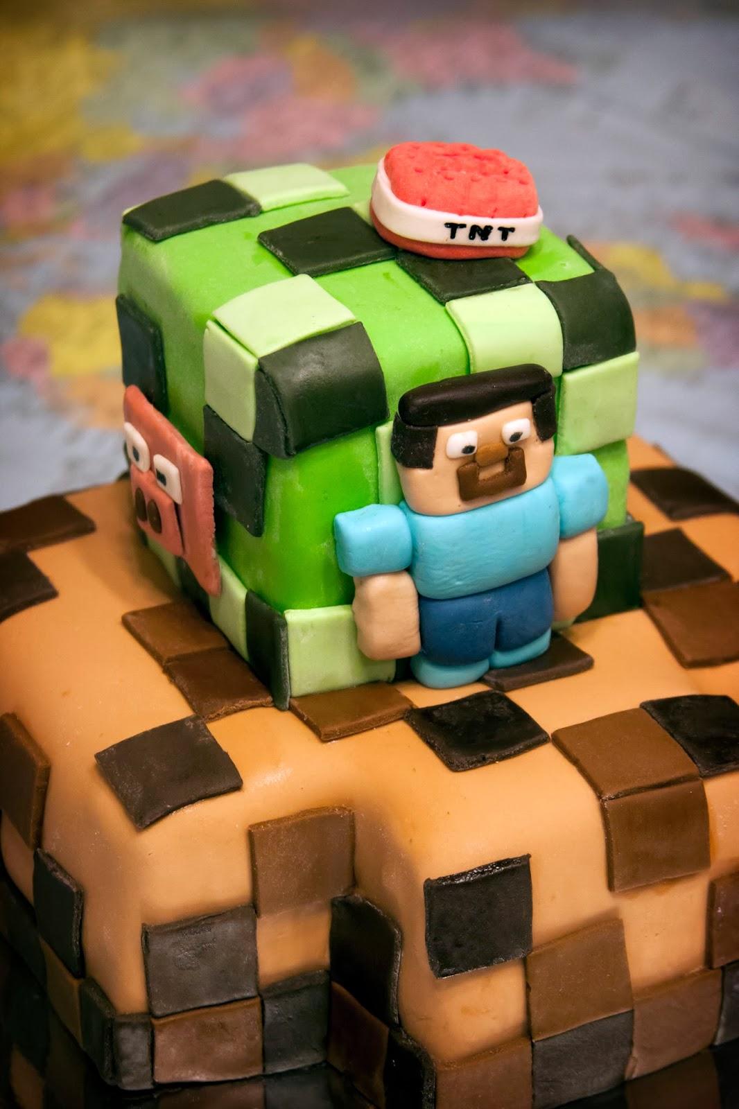 bolo de aniversario minecraft