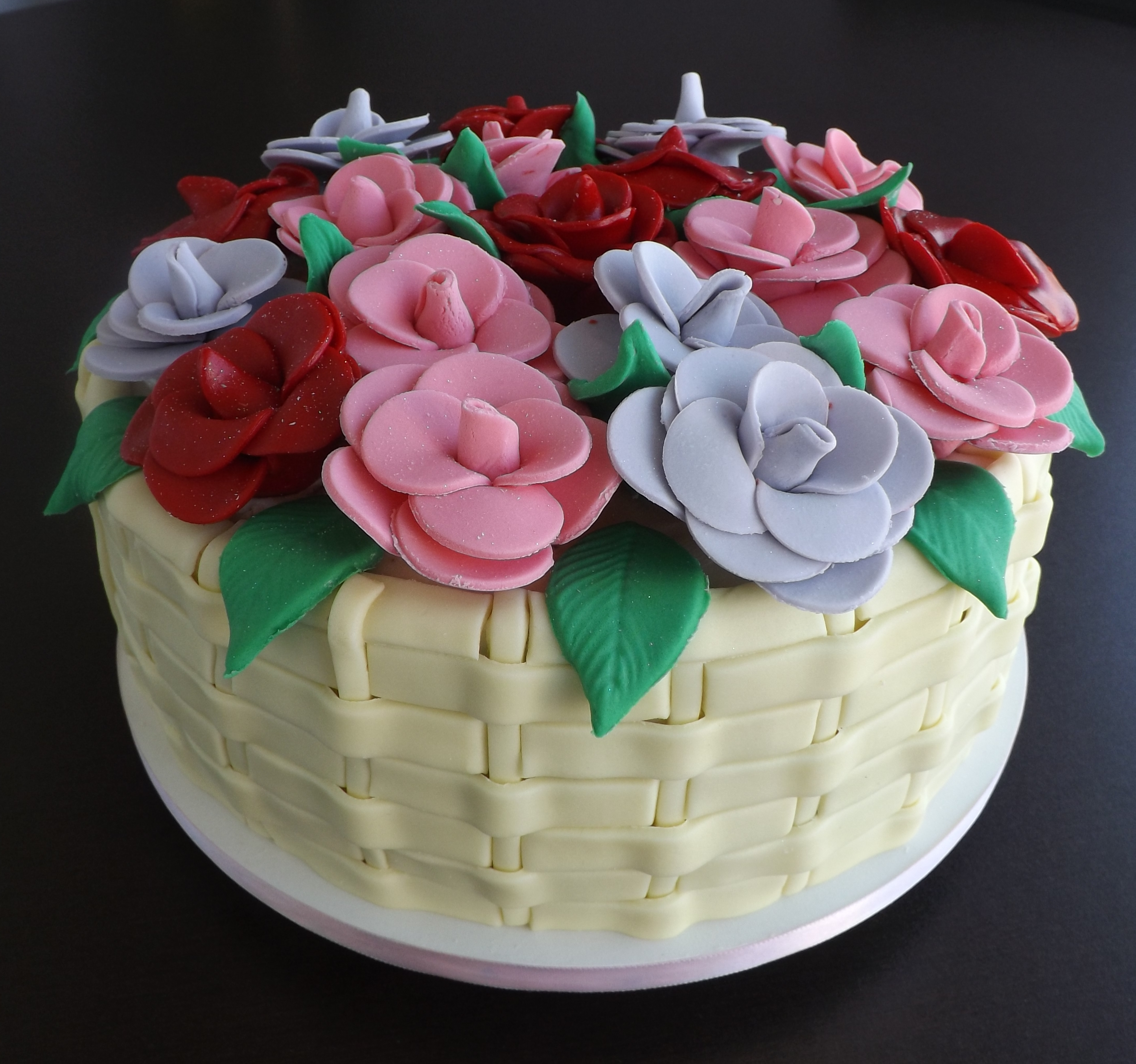 bolo de cesta de flores 2