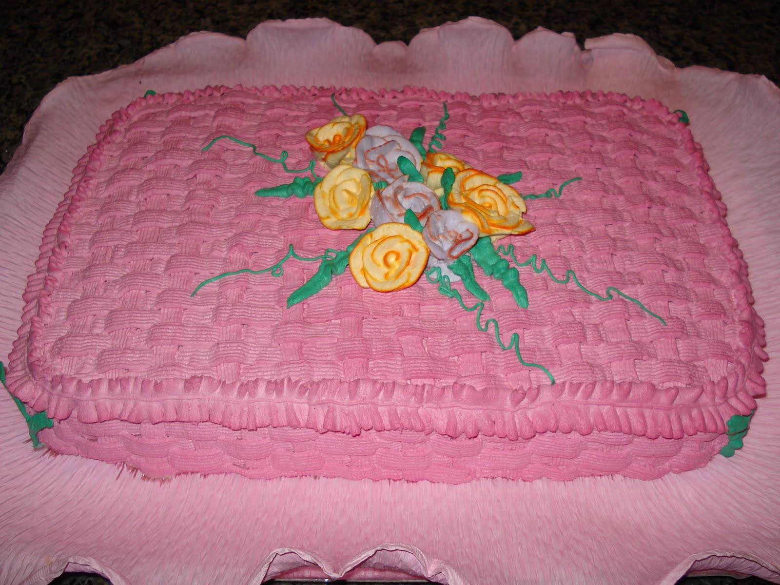 bolo de chantilly rosa