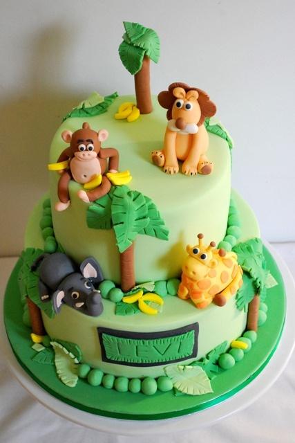 bolo decorado aniversario selva