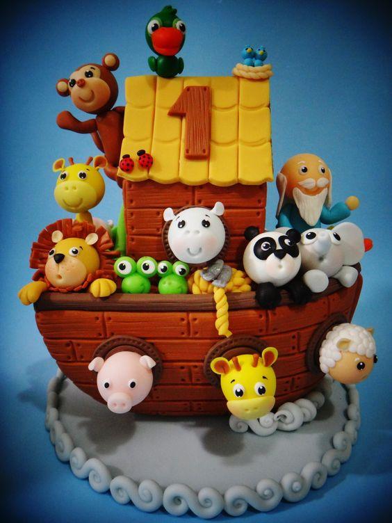 bolo decorado arca noe 5