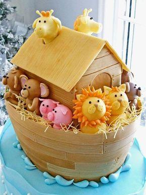 bolo decorado arca noe