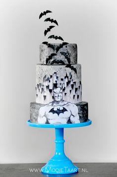 bolo decorado batman
