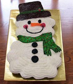 bolo decorado boneco de neve