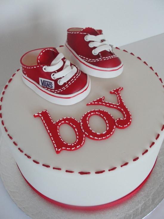 bolo decorado cha bebe menino