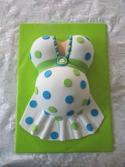 bolo decorado cha bebe