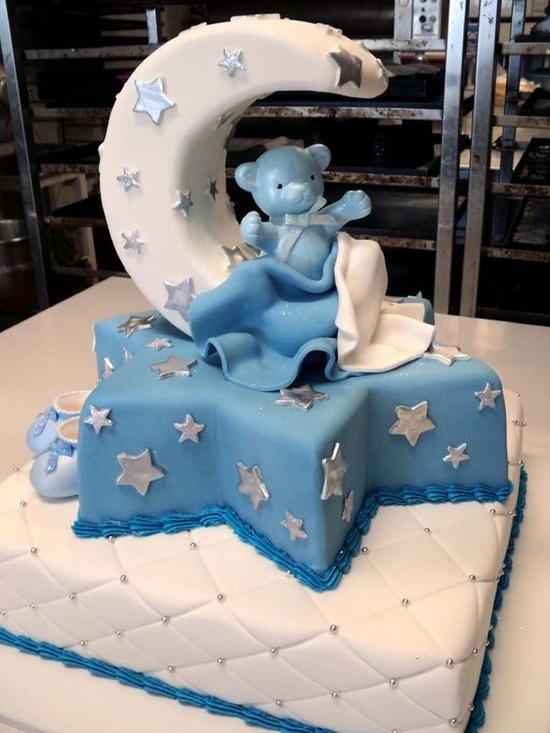 bolo decorado cha de bebe