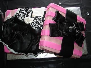 bolo decorado cha lingerie
