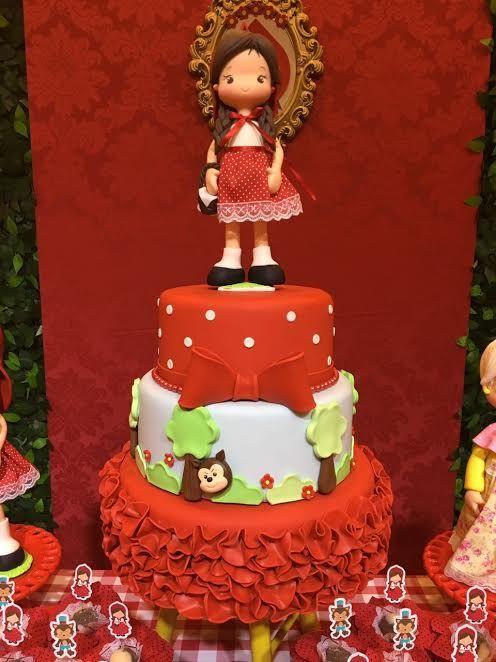 bolo decorado chapeuzinho vermelho 1