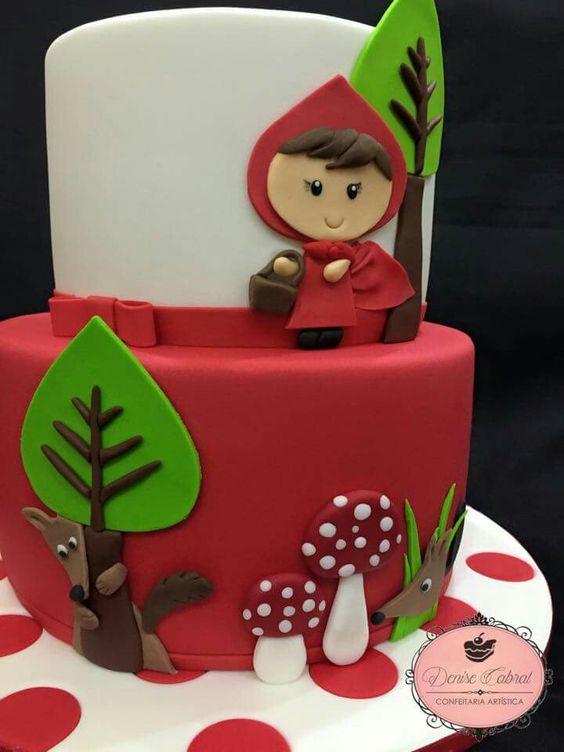 bolo decorado chapeuzinho vermelho 2
