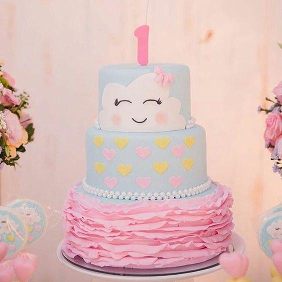 bolo decorado chuva amor 6