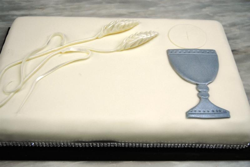 bolo decorado comunhao