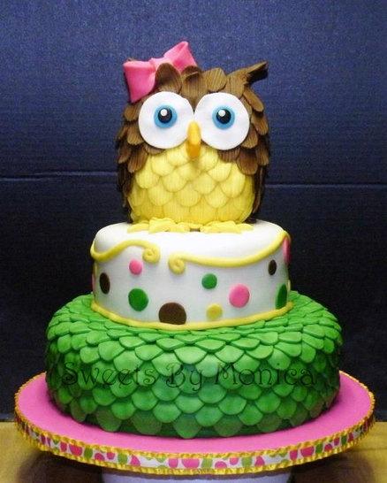 bolo decorado coruja1